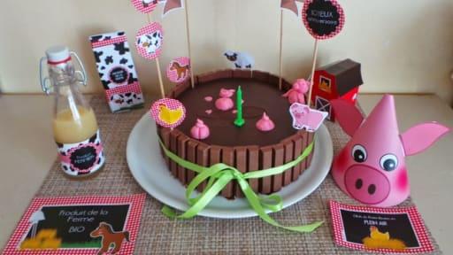 Gâteau mare aux cochons