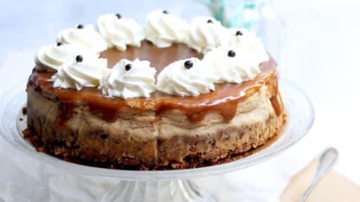 Cheesecake à la confiture de lait et caramel salé