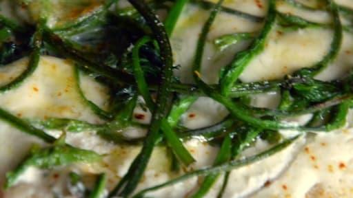 Pizza bianca au Houblon sauvage et au Chèvre frais