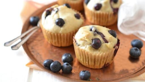 Muffins à la myrtille - Sans oeuf, ni lait