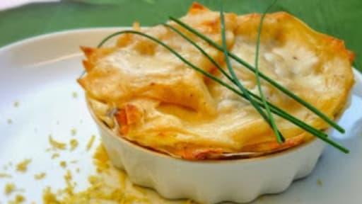 Lasagnes Aux Deux Saumons Frais Et Fume A La Creme D Estragon