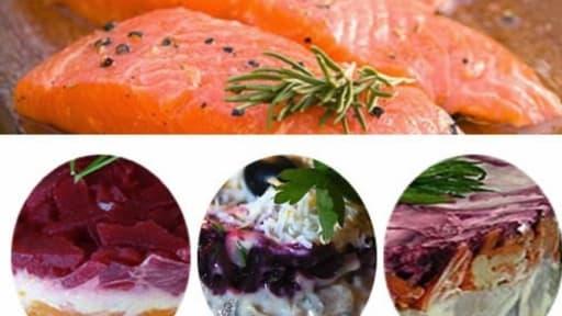 Salade de saumon aux légumes en vinaigrette