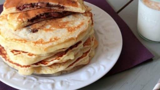 Pancakes Fourres Au Nutella Recette Par Cooking Mumu