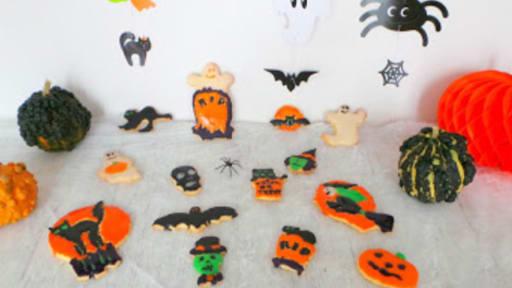 Petits sablés d'Halloween décorés