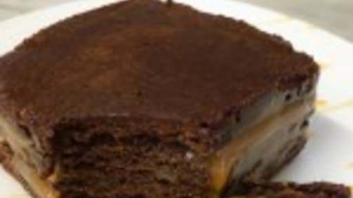 Carré chocolat caramel
