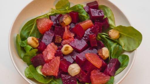 Salade de betterave au pamplemousse
