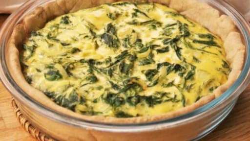 Quiche aux orties sauvages