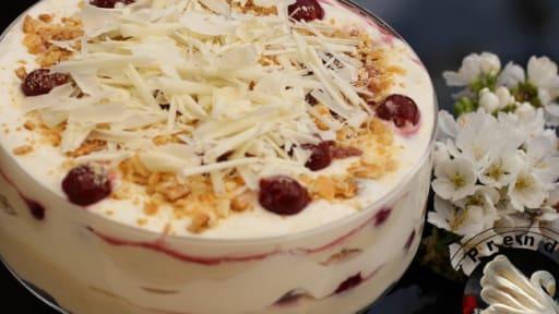 Gâteau Sans Cuisson Cerises Chocolat Blanc Recette Par A Prendre