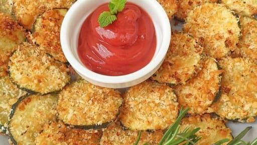 Des chips de courgettes sans friture vegan ou pas