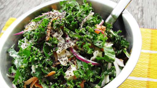 Rémoulade de chou-rave, kale et graines de chia