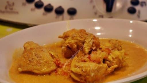 Blancs de poulet lait de coco et curry au thermomix facile et rapide
