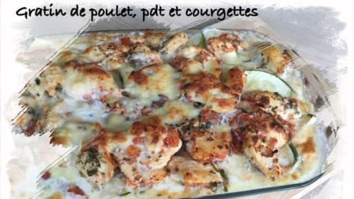 Gratin De Poulet Pommes De Terre Et Courgettes Recette Par