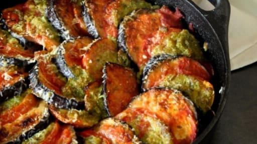 Gratin D Aubergine Et De Tomate Au Pesto Recette Par Le Cri De La