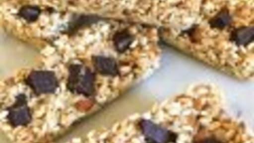 Barres de céréales vegan et sans gluten