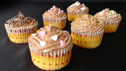 Cupcakes à la vanille et au chocolat