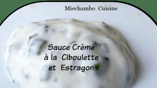 Sauce crème aux herbes
