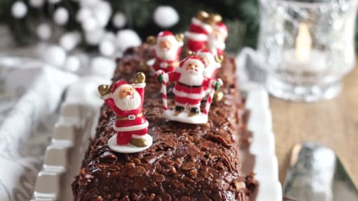 Bûche Fondant Marron Chocolat