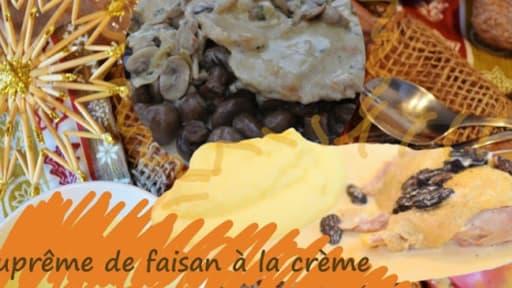 Faisan à la crème, aux champignons - Recette par Cuisine maison, on