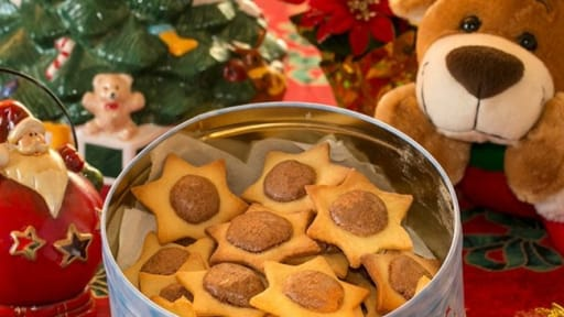 Étoiles de Noël soufflées