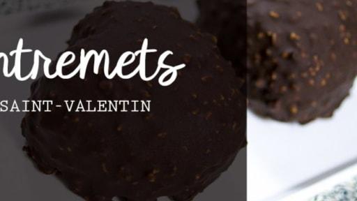 Entremets Saint-Valentin chocolat miel fève tonka