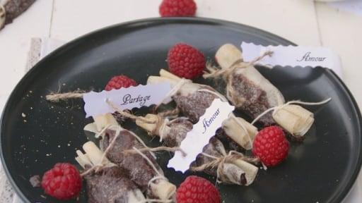Bonbons croustillants au chocolat pour la Saint Valentin