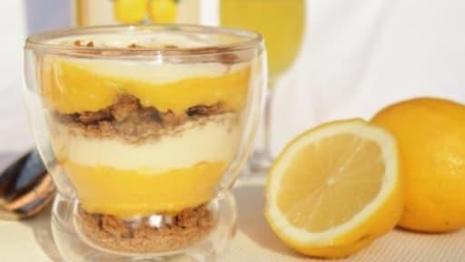 Pot gourmand aux spéculoos, mascarpone au miel et lemon curd