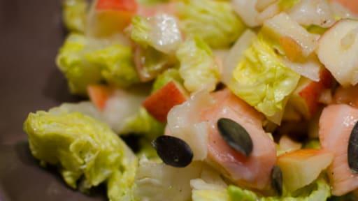 Salade de saumon frais et de pomme