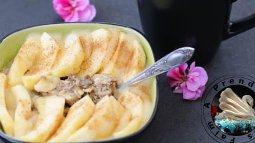 Flocons chauds pomme banane