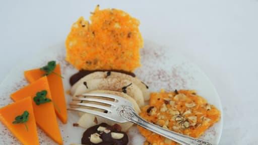 """Dessert sucré-salé """"entre la poire et le fromage"""""""