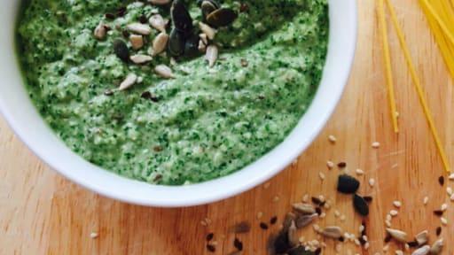 Pesto de chou kalé et courgettes
