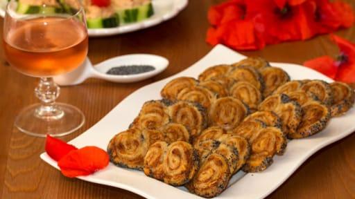 Palmiers aux sardines à la basquaise et piment d'Espelette