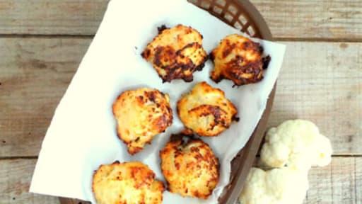 Nuggets de poulet en chapelure de chou-fleur et parmesan
