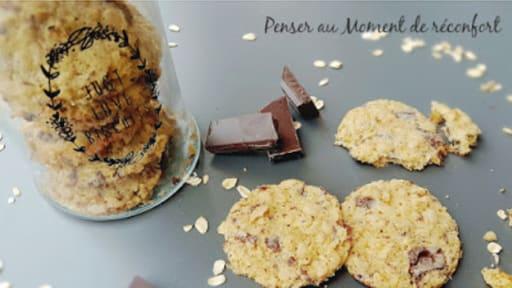 Cookie avoine chocolat
