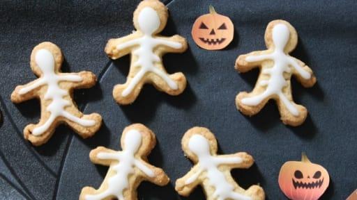 Shortbreads squelettes pour Halloween