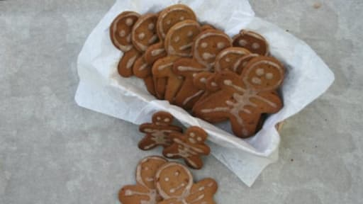Biscuits Halloween purée d'amande et huile de coco