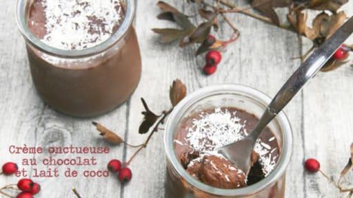 Creme Au Chocolat Au Lait De Coco Recette Par Dans La Cuisine De Gin
