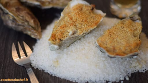 Gratin d'huîtres à la charentaise : Pineau et saucisse