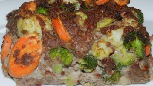 Pain de viande aux légumes d\u0027hiver
