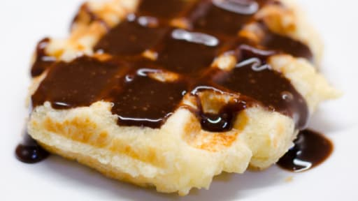 Gaufres liégeoises, sauce Nutella