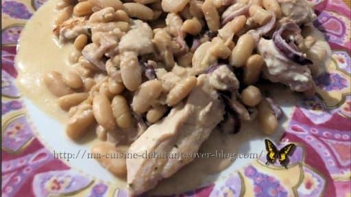 Filets De Poulet Aux Haricots Blancs Et Sa Sauce Boursin Au Cookeo