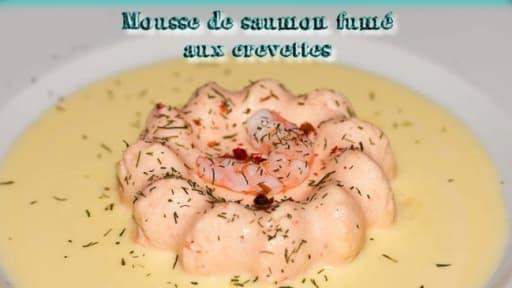 Mousse de saumon fumé aux crevettes