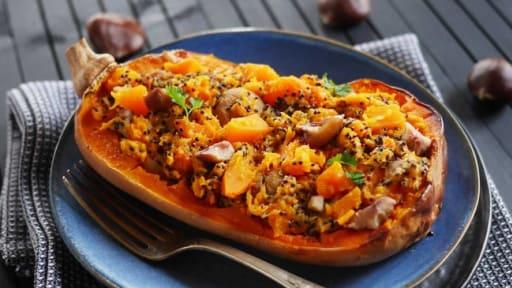 Butternut marrons et quinoa