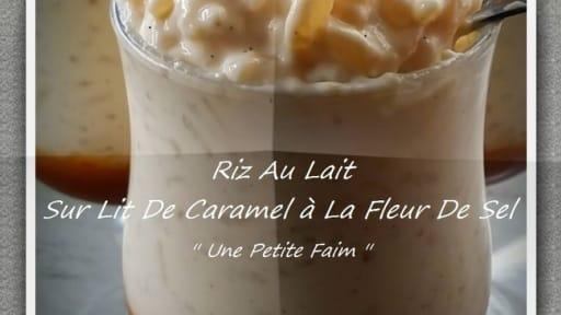 Riz au lait sur lit de caramel à la fleur de sel