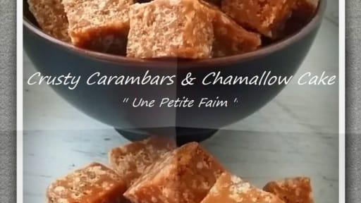 Crusty carambars et chamallow cake