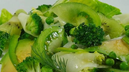 Green salad vinaigrette au miel et citron vert