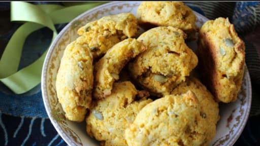 Cookies à la carotte, graines de courge et cumin
