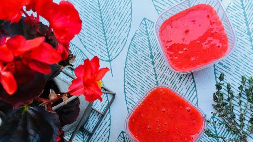 Gaspacho de fruits rouges au thym citron