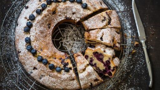 Gâteau aux myrtilles ultra-moelleux
