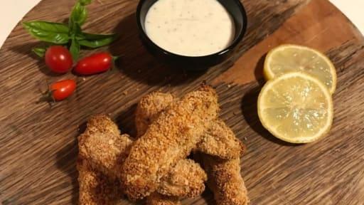 Les frites de poulet panés maison