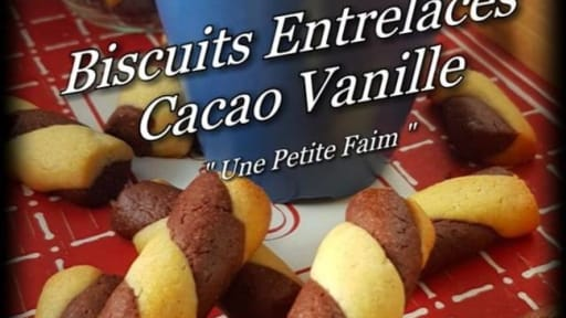 Biscuits entrelacés cacao vanille